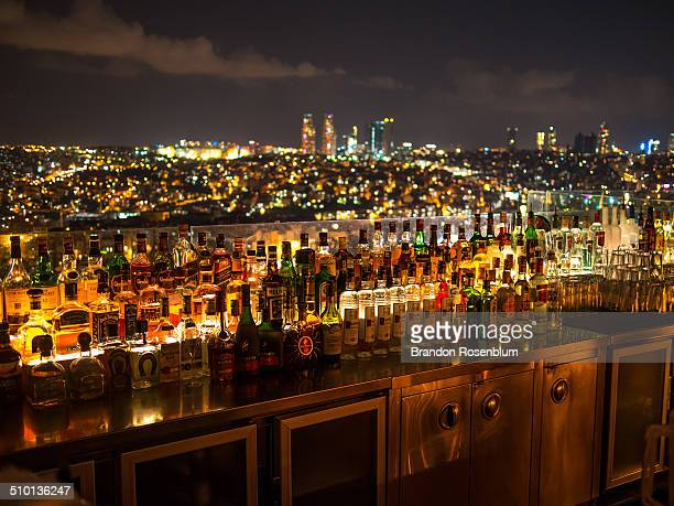 Roof top bar in Istanbul, Turkey