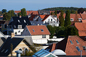 Danish city Odense seen from obove. Homes both apartments and family houses