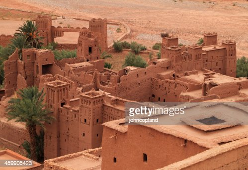 Roof tops of Ait Ben Haddou Kasbah, Morocco. : Stock Photo