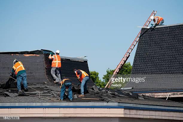 La toiture Crew au travail