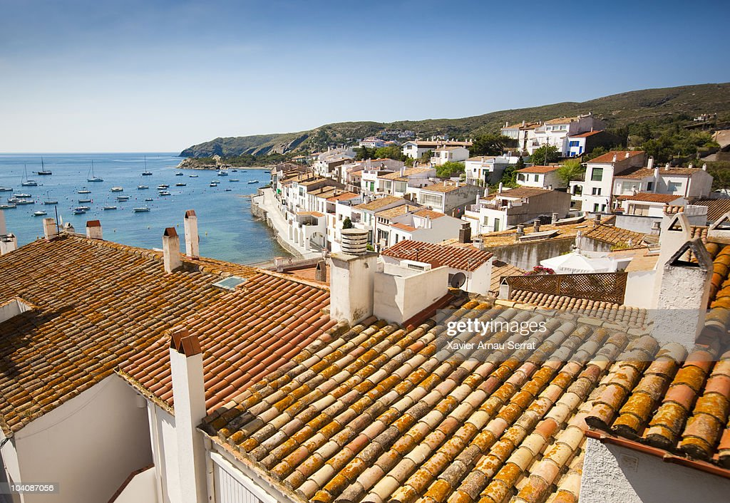 Roofs of Cadaques : Stock Photo