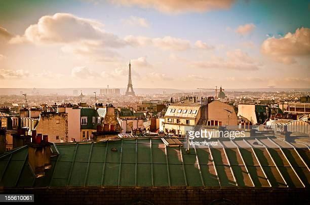 Roofs of Paris with Eiffel Tower in the background