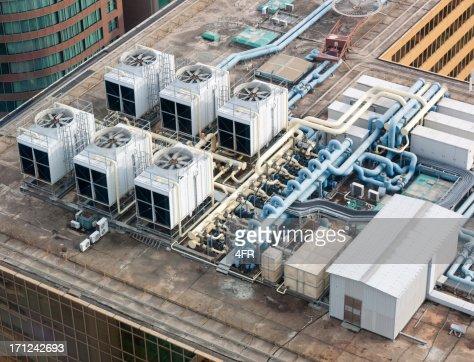 Rooftop Air System, Skyscraper, Hong Kong (XXXL)