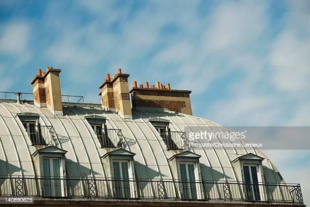 Rooftop chimneys, Paris, France