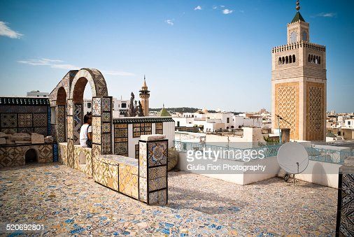 Rooftop in Medina, Tunis, Tunisia