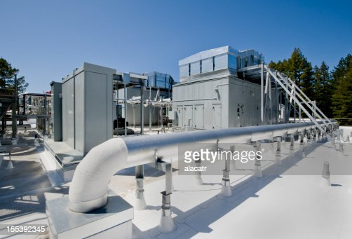 Rooftop Industrial HVAC System