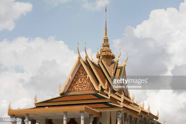 Rooftop of Cambodian pagoda