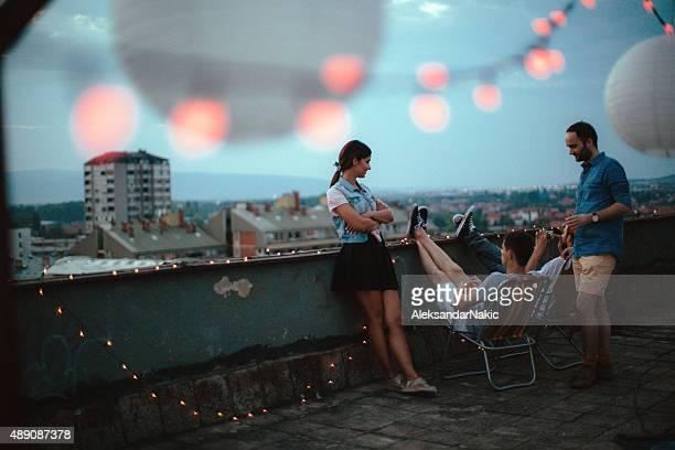 party Momente auf dem Dach