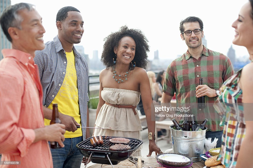 Rooftop Party : Stock Photo