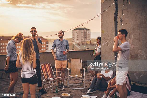 party auf dem Dach