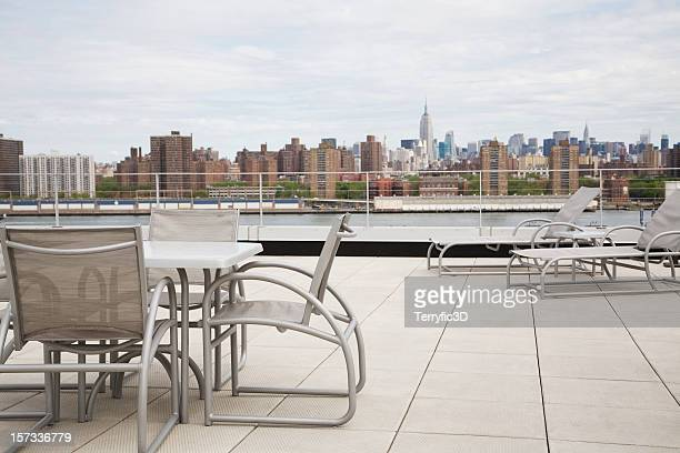 Rooftop Patio Terrace Overlooking New York City