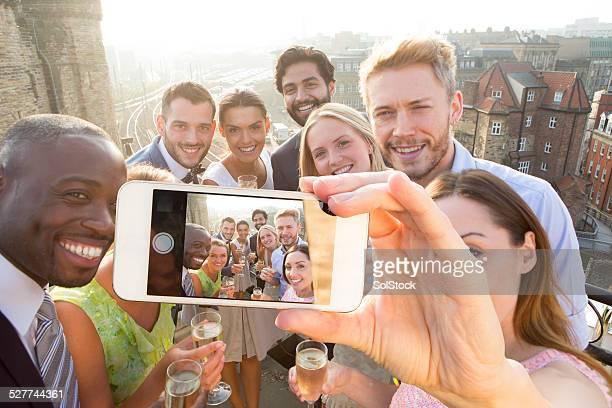 Selfie sur le toit