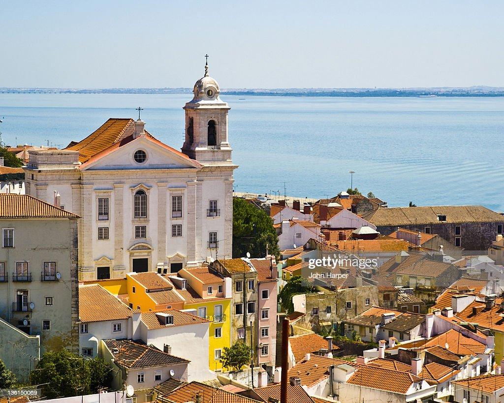 Rooftops, Alfama, Lisbon, Portugal : Stock Photo