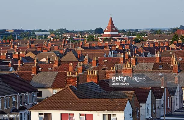 Rooftops in Swindon, UK