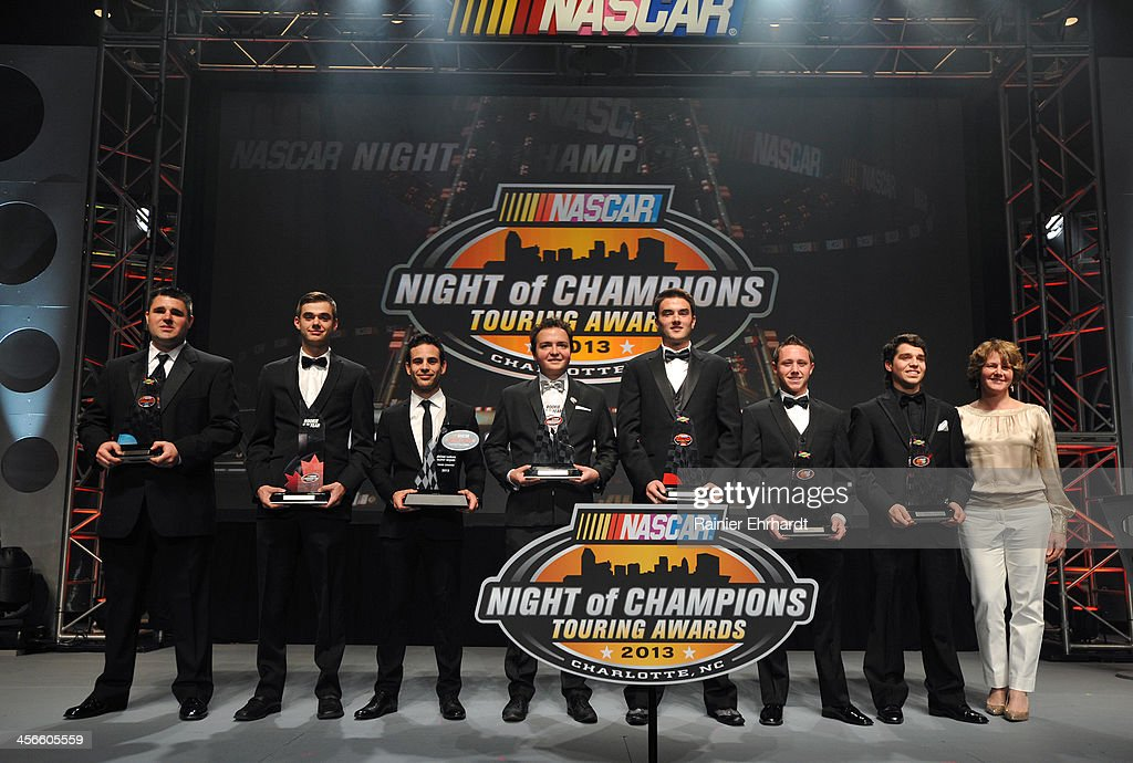 Rookie of the Year honorees pose for a photograph during the NASCAR Night of Champions at Charlotte Convention Center on December 14, 2013 in Charlotte, North Carolina.