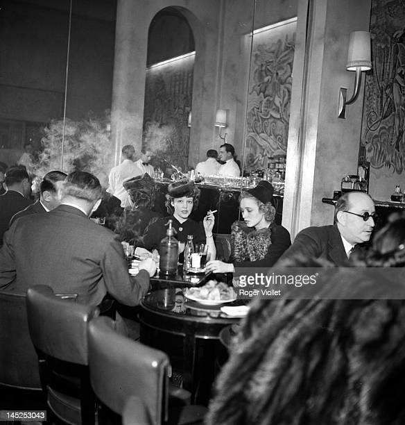 Room and bar of the Hotel Ritz in the Place Vendome Paris February 1939