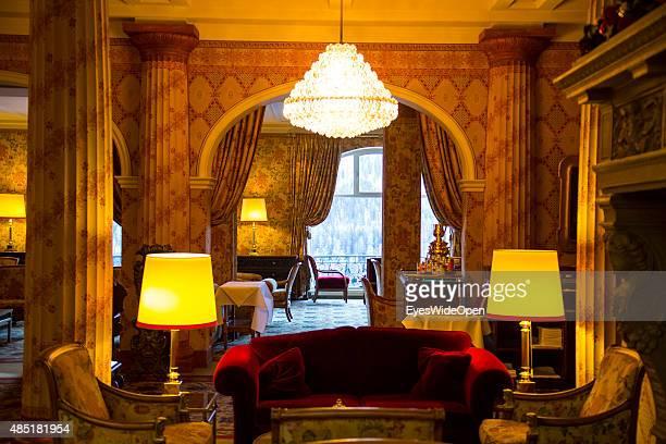 Room and interior of the luxury Kulm Hotel on December 14 2013 in St Moritz EngadinGraubunden Switzerland