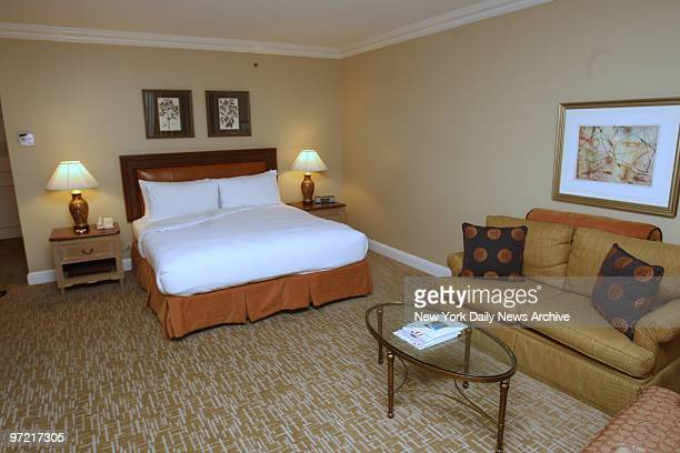 A room at the Crescent Club Rosewood Hotel where Governor Eliot Spitzer stayed in October and paid for sex with a high class escort