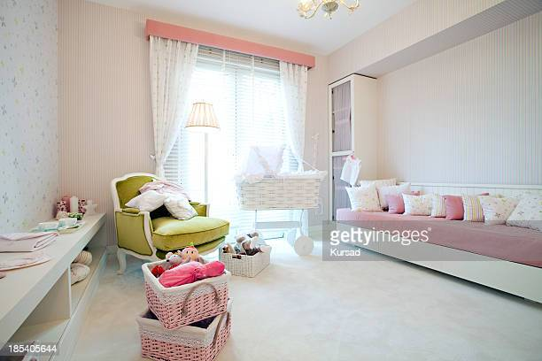 Room design for a baby girl's room