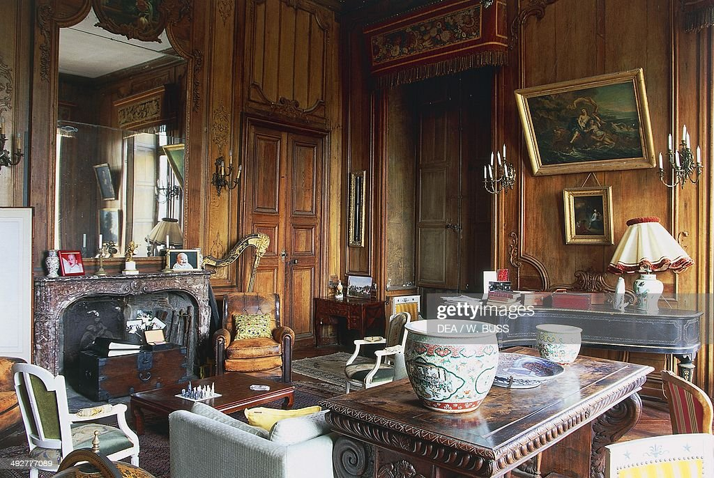 A room in Chateau of Loyat, 18th century, Brittany, France.