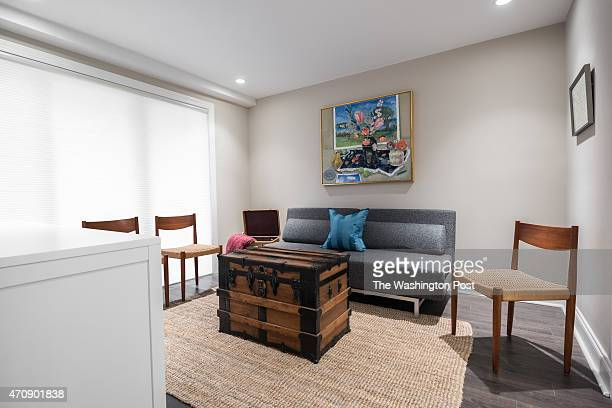 A room in the basement apartment of Cari Shane's renovated row house which has been extensively remodeled and updated 2015
