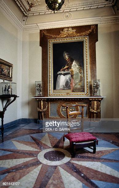 Room in the Museum of Romanticism with Saint Gregory the Great painting by Francisco Goya Madrid Spain