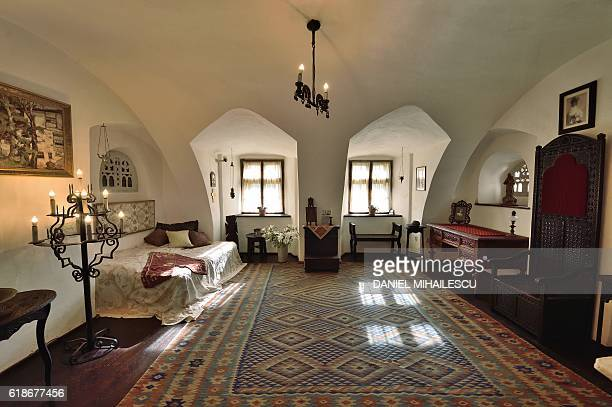 A room inside the Bran Castle is pictured in Bran Romania on October 18 2016 Armed with courage and hopefully garlic two horror fans dying for a...