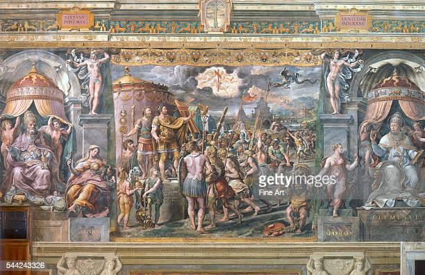 Room of Constantine one of the four Stanze di Raffaello Vatican Palace Rome Fresco 1508/91520