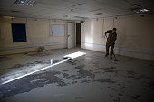 A room once used by the Joint Movements Unit is swept clean at Kandahar airfield on November 13 2014 in Kandahar Afghanistan Now that British combat...