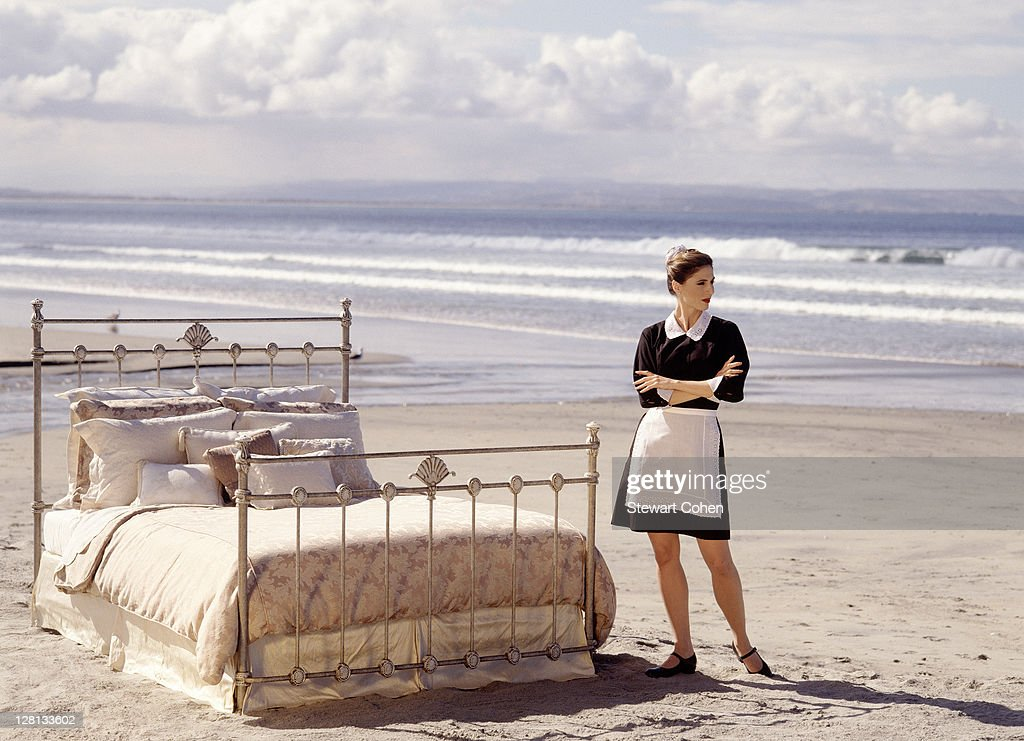 Room service by the sea : Stock Photo