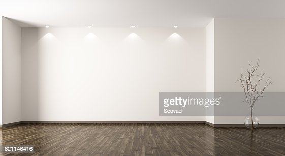 Room with glass vase background 3d rendering : Stock Photo