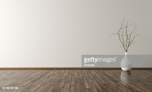 Room with vase interior background 3d rendering : Stock Photo