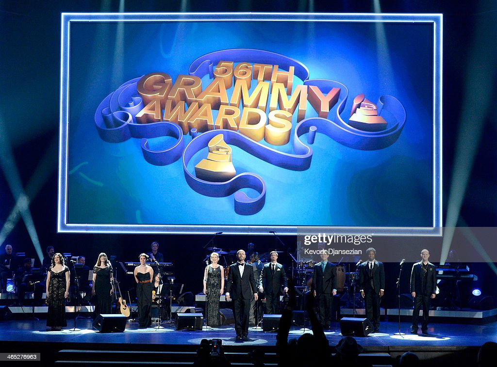 Roomful of Teeth performs onstage during the 56th GRAMMY Awards Pre-Telecast Show at Nokia Theatre L.A. Live on January 26, 2014 in Los Angeles, California.