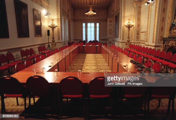 A roon in London's Lancaster House the venue for the next round of Northern Ireland MultiParty Talks which will take place from 2628 January WPA ROTA...