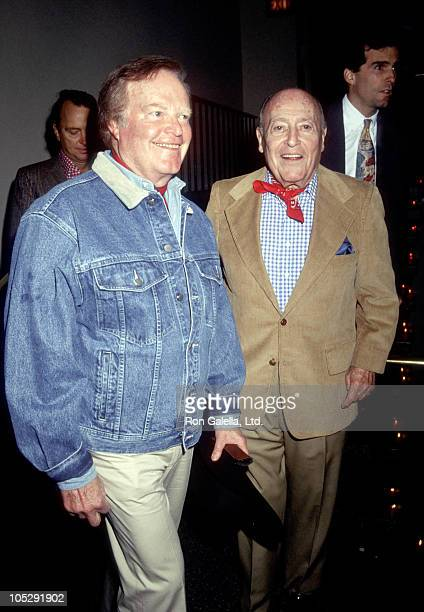 Roone Arledge and Jerry Zipkin during Literacy Volunteers of New York City Wild West Hoedown December 3 1991 at St Vartans Armenian Church in New...