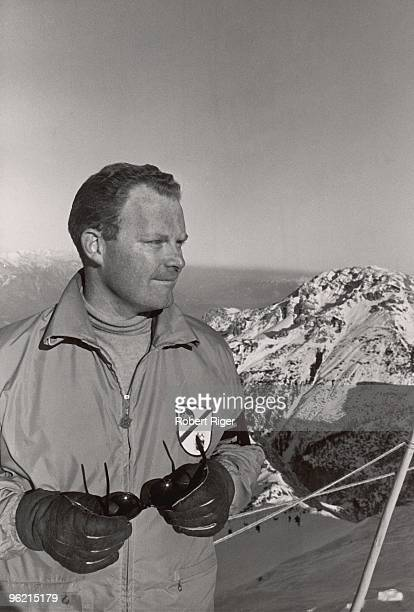 Roone Arledge of ABC TV looks on during the 1964 Winter Olympics in Innsbruck Austria