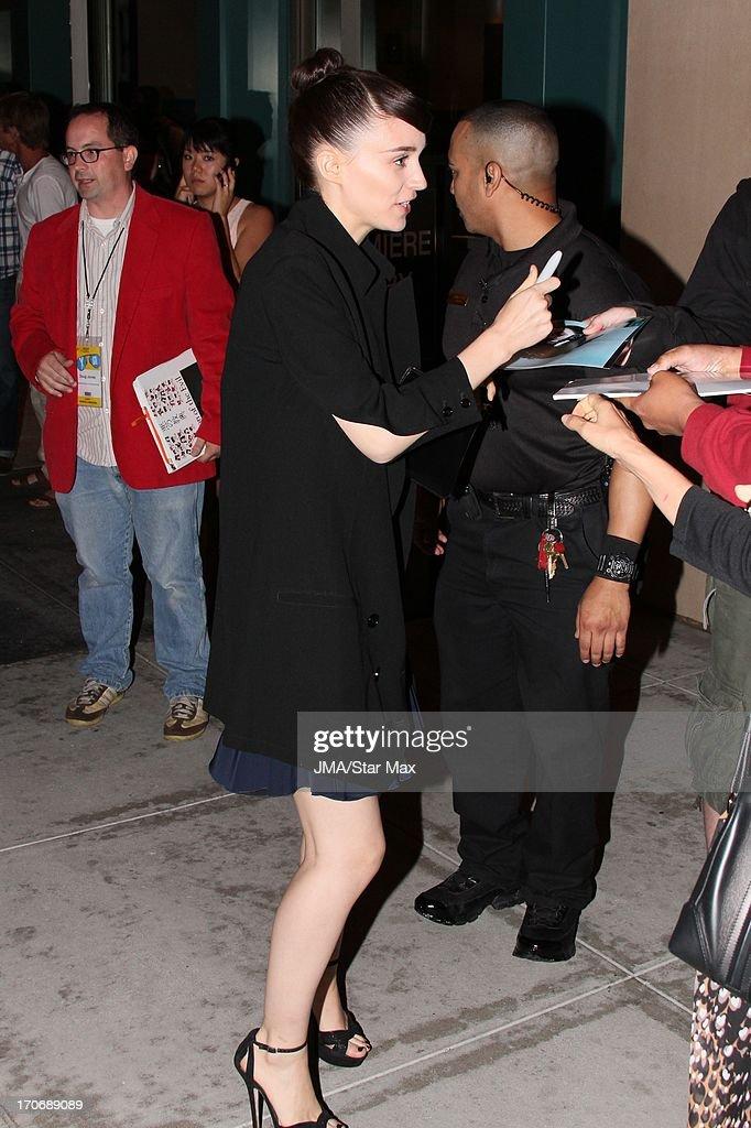Rooney Mara as seen on June 15, 2013 in Los Angeles, California.