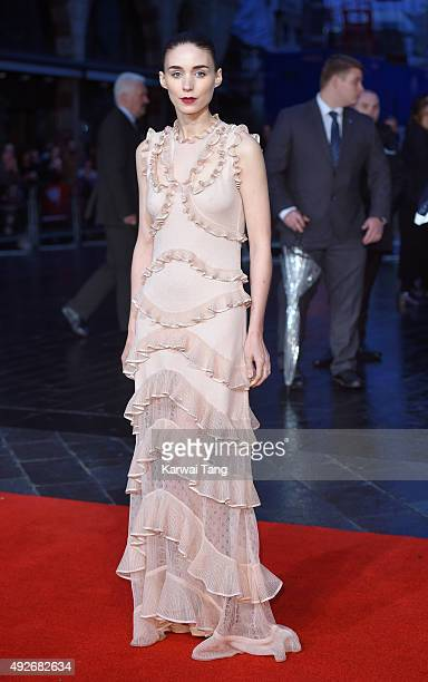 Rooney Mara attends a screening of 'Carol' during the BFI London Film Festival at Odeon Leicester Square on October 14 2015 in London England