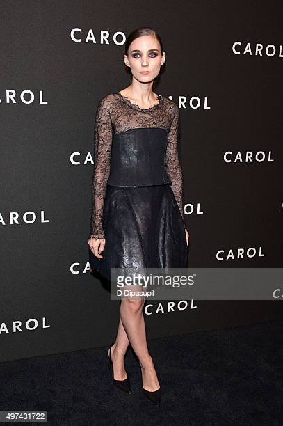Rooney Mara attends the 'Carol' New York premiere at the Museum of Modern Art on November 16 2015 in New York City