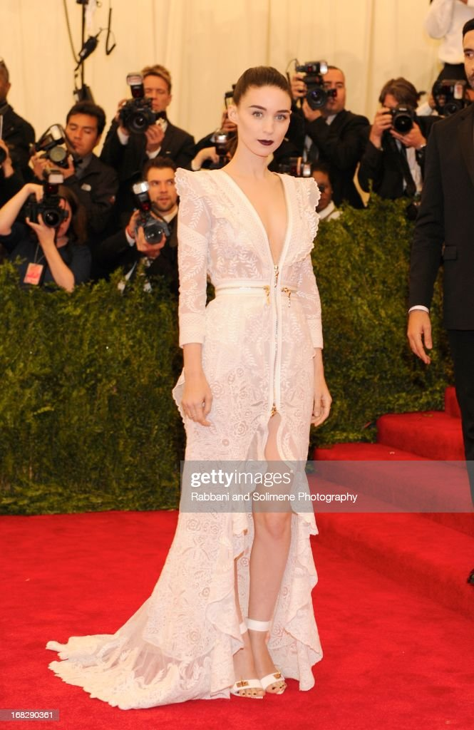 Rooney Mara attends the Costume Institute Gala for the 'PUNK: Chaos to Couture' exhibition at the Metropolitan Museum of Art on May 6, 2013 in New York City.