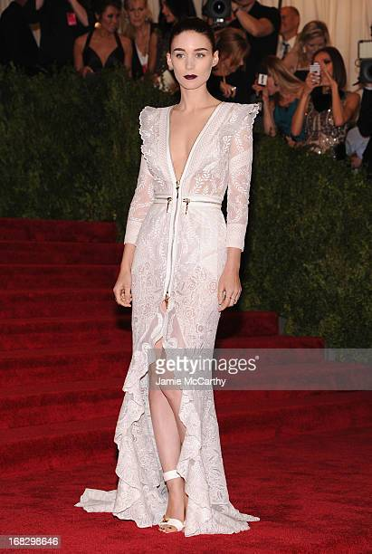 Rooney Mara attends the Costume Institute Gala for the 'PUNK Chaos to Couture' exhibition at the Metropolitan Museum of Art on May 6 2013 in New York...