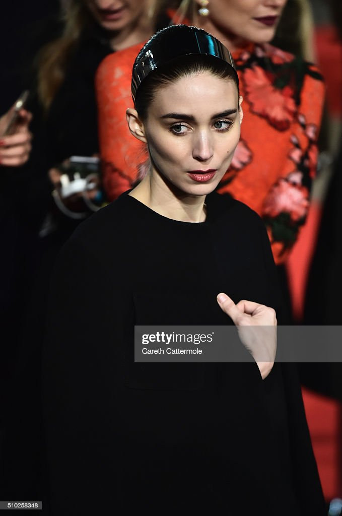 Rooney Mara attends the EE British Academy Film Awards at the Royal Opera House on February 14, 2016 in London, England.