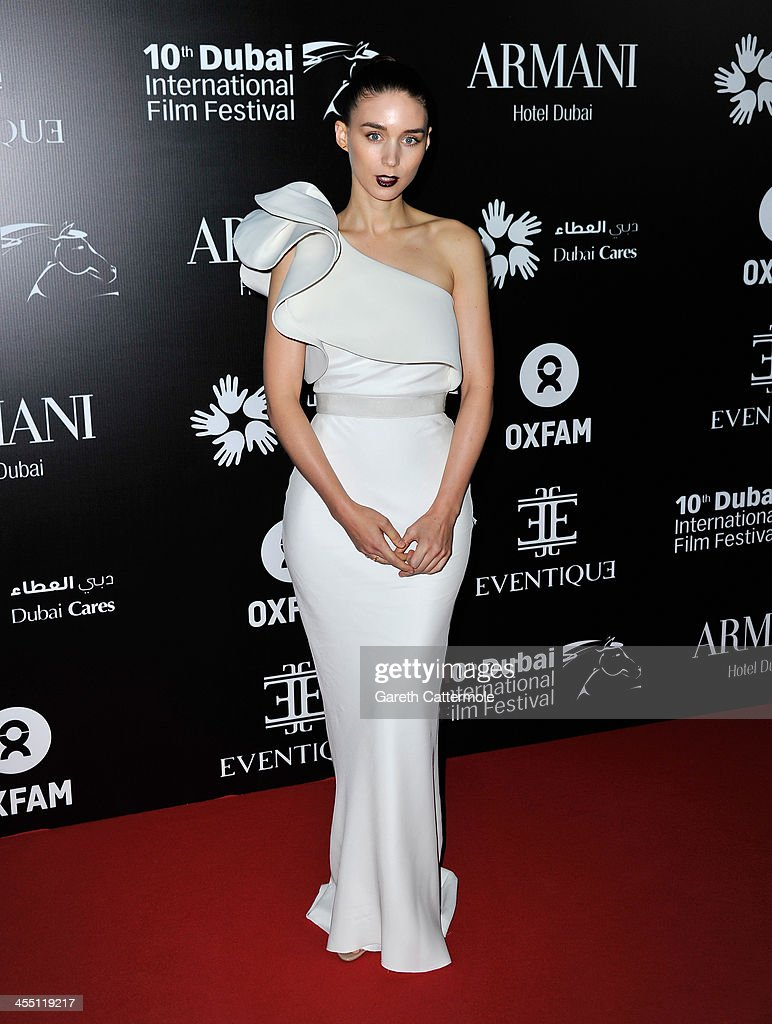<a gi-track='captionPersonalityLinkClicked' href=/galleries/search?phrase=Rooney+Mara&family=editorial&specificpeople=5669181 ng-click='$event.stopPropagation()'>Rooney Mara</a> attends the Oxfam Charity Gala during day six of the 10th Annual Dubai International Film Festival held at the Armani Hotel on December 11, 2013 in Dubai, United Arab Emirates.