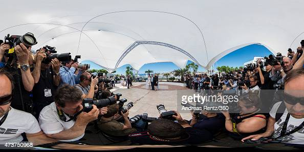 Rooney Mara director Todd Haynes and actress Cate Blanchett attend the 'Carol' photocall during the 68th annual Cannes Film Festival on May 17 2015...
