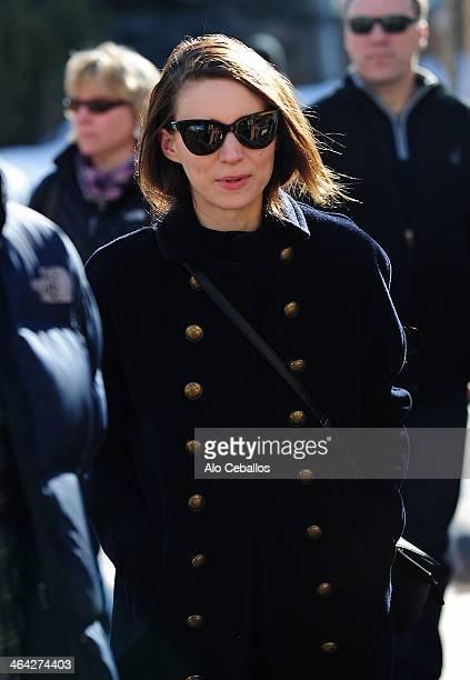 Rooney Mara is seen at Sundance Festival on January 21 2014 in Park City Utah