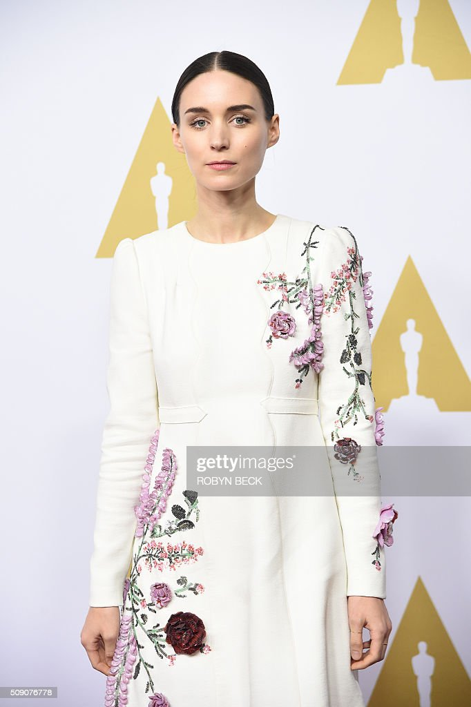 Rooney Mara, nominee for best actress in a supporting role for 'Carol,' arrives at the 88th Oscar Nominees Luncheon in Beverly Hills, California, February 8, 2016. / AFP / ROBYN BECK