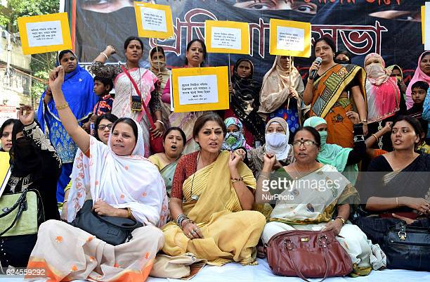 Roopa Ganguly MP and President of West Bengal BJP Women Cell along Actress Loket Chatterjee Supporting the efforts for imposition of Uniform Civil...