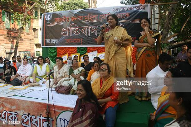 Roopa Ganguly MP and President of Women Cell State BJP Addressing Supporting the efforts for imposition of Uniform Civil Code and agitating over the...