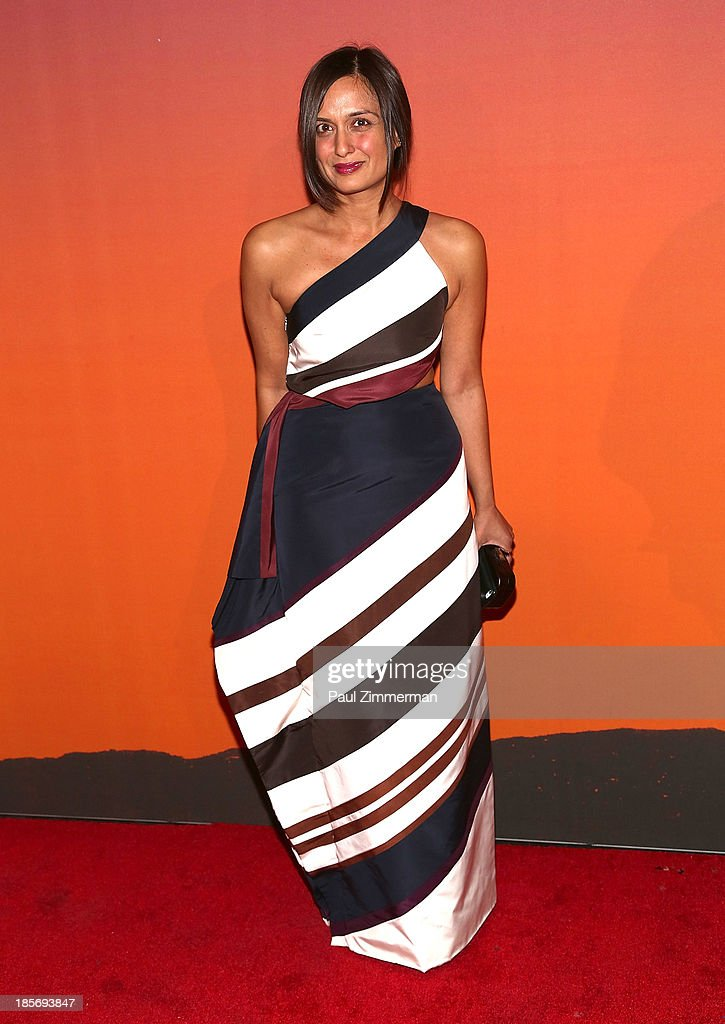 Roopal Patel arrives at the 2013 Whitney Gala and Studio Party at Skylight at Moynihan Station on October 23, 2013 in New York City.