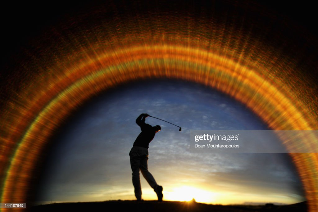 Roope Kakko of Finalnd warms up on the driving range prior to Day Two of the Madeira Islands Open at Santo da Serra Golf Course on May 11, 2012 in Funchal, Madeira, Portugal.